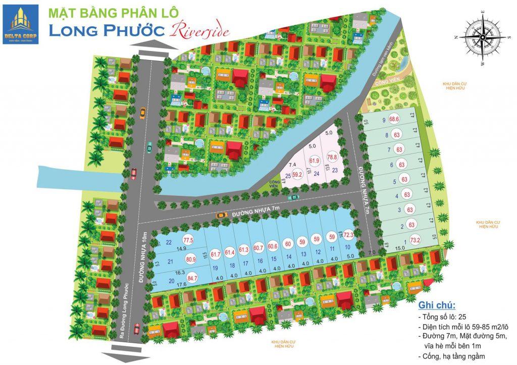 mặt bằng tổng thể dự án đất nền long phước quận 9